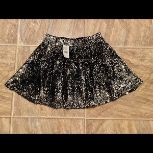 NEW Joa black sequin mini skirt medium elastic